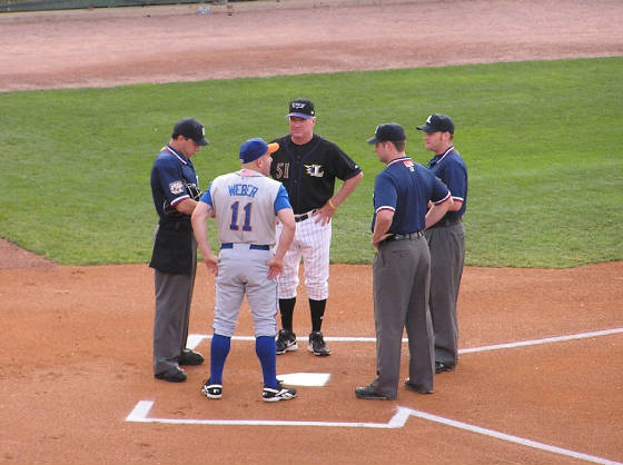 Exchanging the Line Ups - Louisville Slugger Field