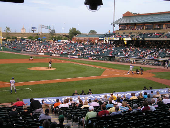 From the 3rd base side - Louisville slugger field