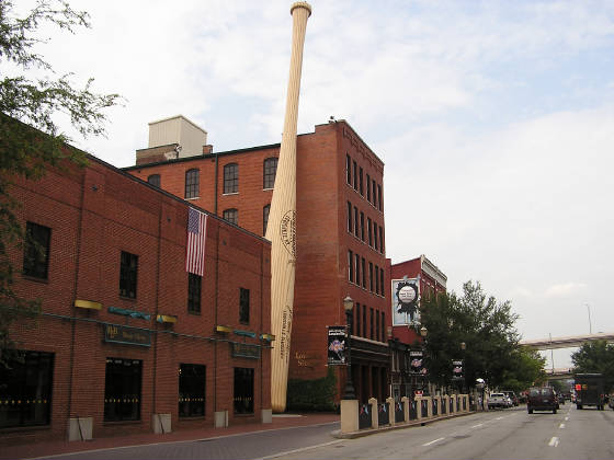 The Louisville Slugger museum about 1 mile away