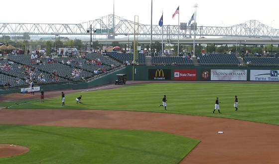 Pre Game Warm Ups - Louisville Slugger Field